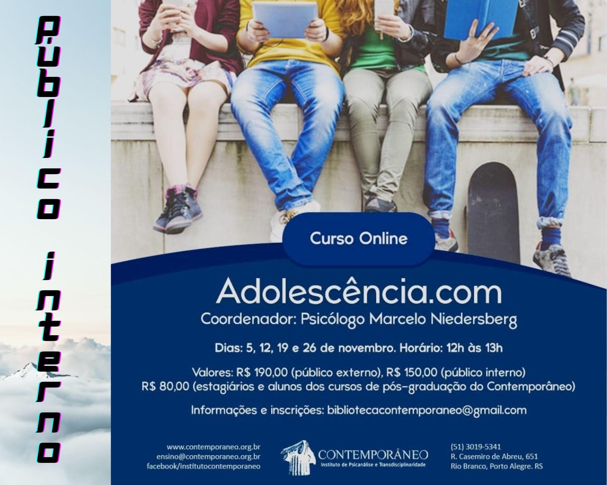 Curso para Adolescência.com - Público Interno