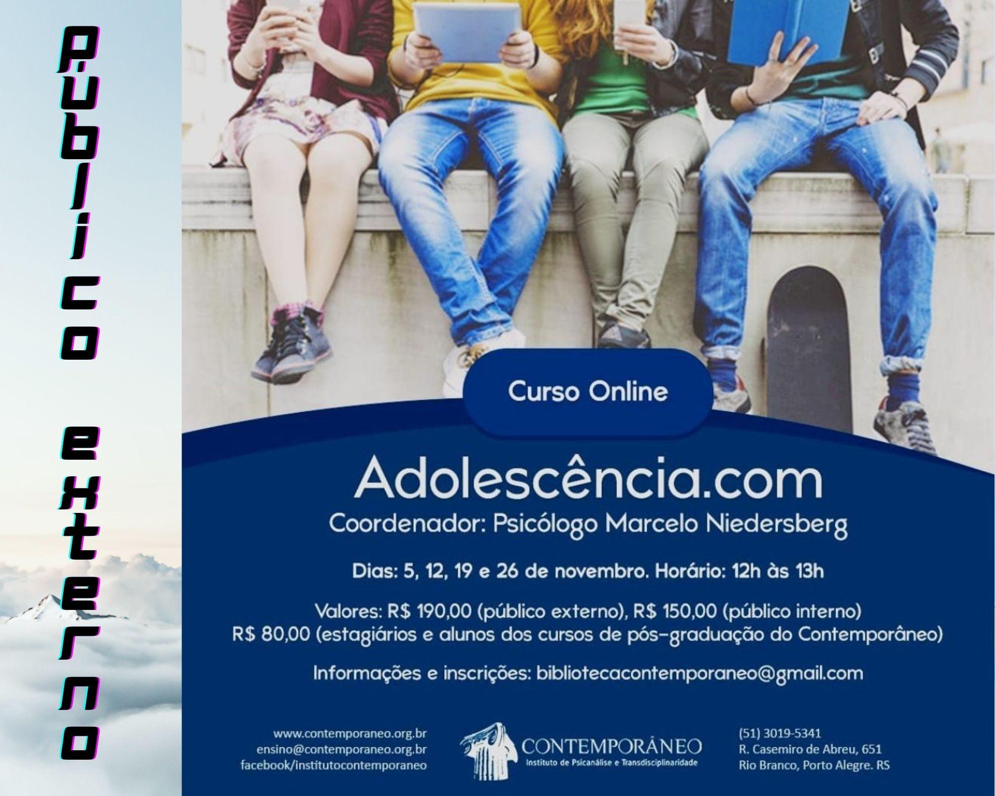 Curso para Adolescência.com - Público Externo