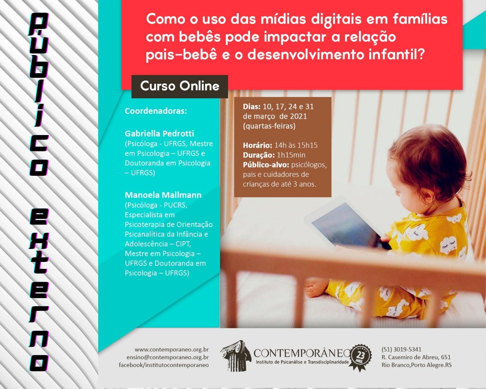 Curso para Uso das Mídias Digitais em famílias com bebês - Público Externo