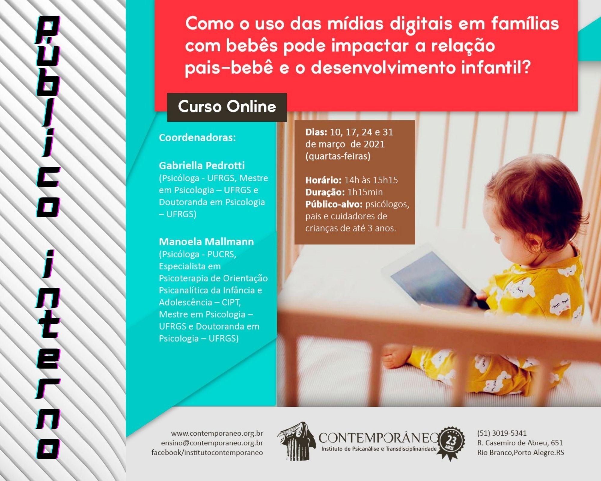 Curso para Uso das Mídias Digitais em famílias com bebês - Público Interno