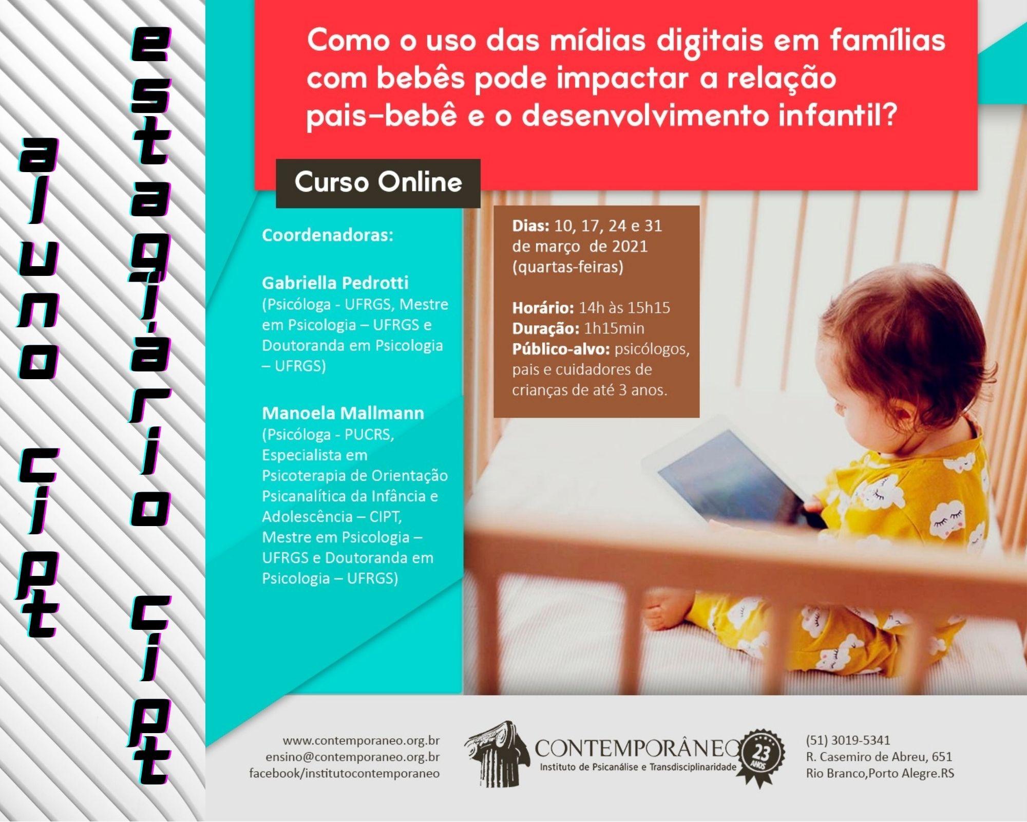 Curso para Uso das Mídias Digitais em famílias com bebês - Alunos e Estagiários CIPT 2021