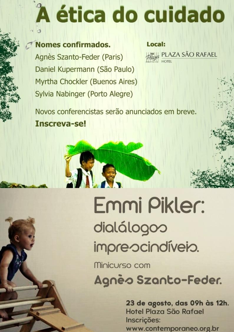 Curso para Jornada 2019 A Ética do Cuidado + Minicurso Emmi Pikler: Diálogos Imprescindíveis
