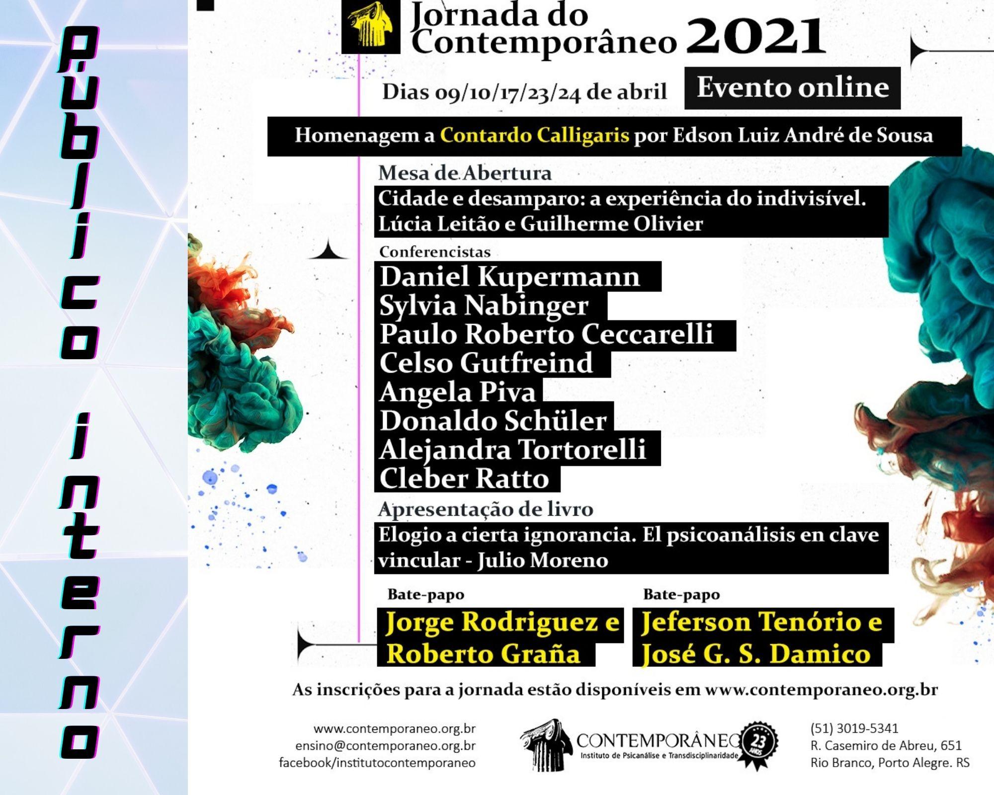 Curso para Jornada 2021 - Membros do Contemporâneo